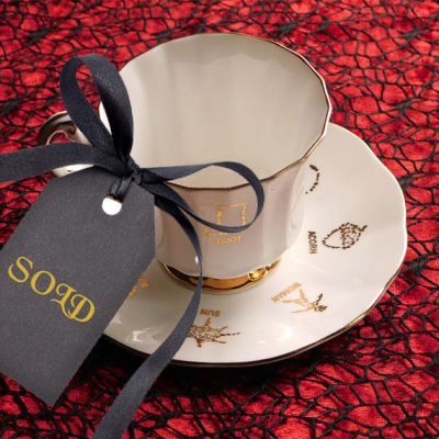 Red Rose Tea Cup of Fortune Set 1