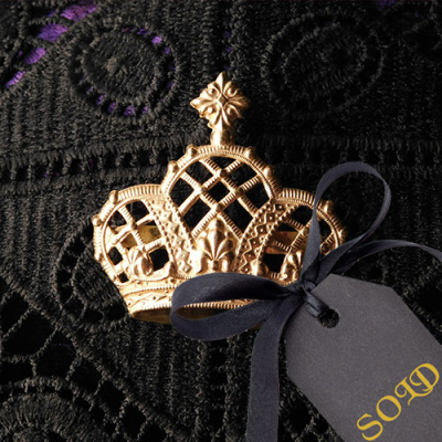 Brass Crown Brooch
