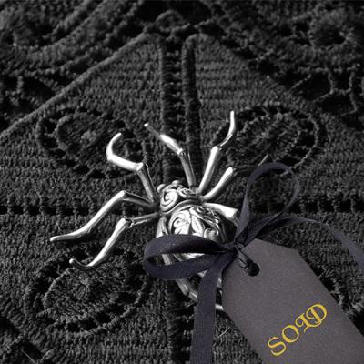 Sterling Silver Spider Brooch Jezlaine