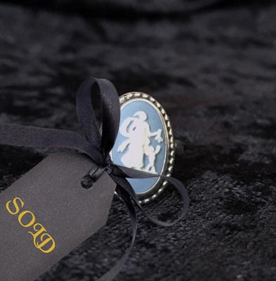 Wedgwood Jasperware Cameo Ring