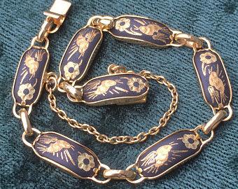 Vintage Damascene Bracelet