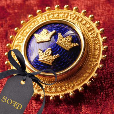 Sporrong Crown Brooch