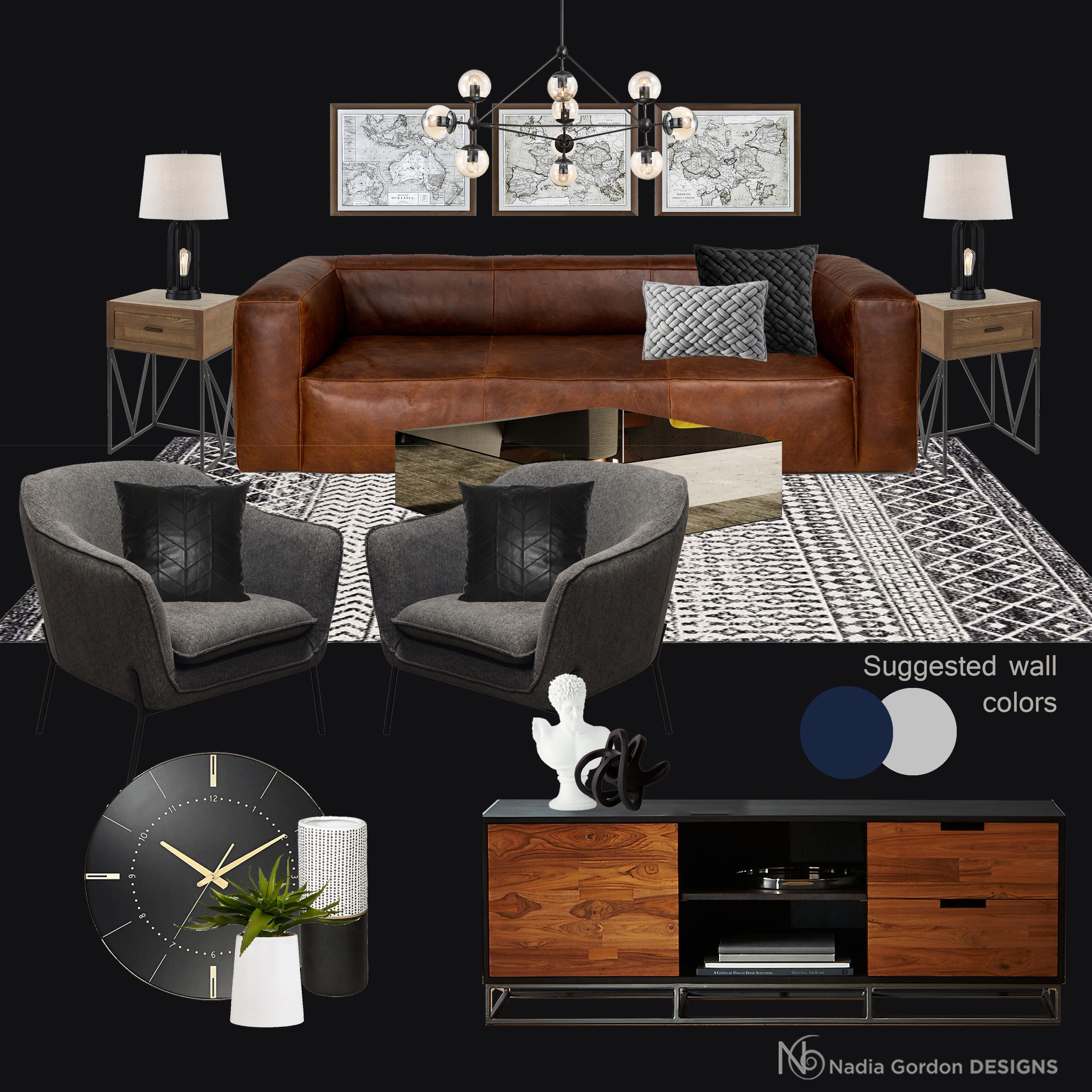 Contemporary Bachelor Pad Living Room