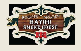 Boogie McGee's Bayou Smoke House BBQ logo