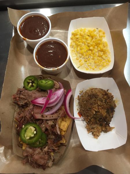Redneck Nachos, Dirty Rice, & Creamed Corn