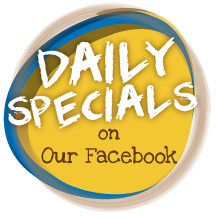 Daily Specials on Our Facebook icon