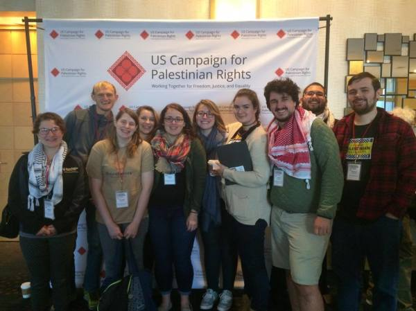 SJP delegation at the US Campaign for Palestinian Rights