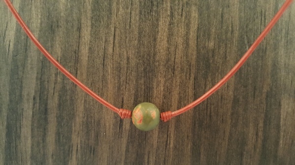 Simple Red Creek Jasper Necklace