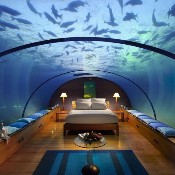 Underwater hotel room, Rangali Island, Maldives