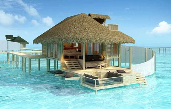 Overwater Bungalow Suites, Four Seasons, Bora Bora.