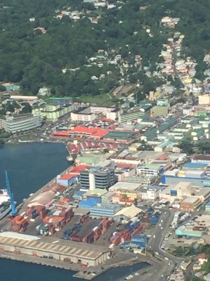 Views of St. Lucia from the helicopter.