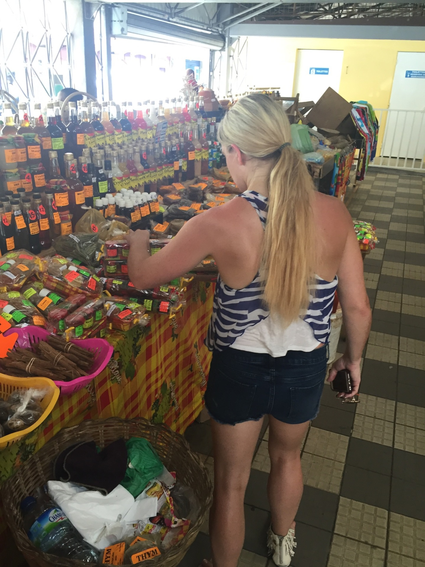A little market shopping in Martinique.