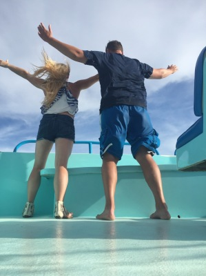 We're the King and Queen of the World....