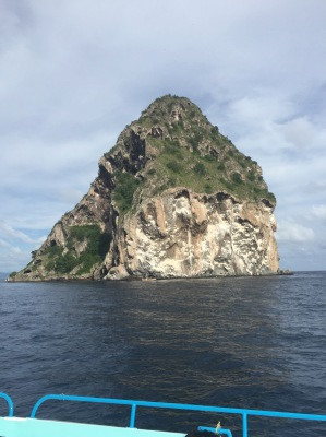 A rock on the way out to Martinique.