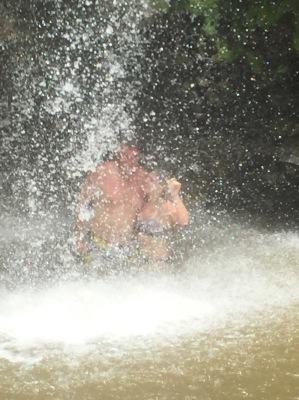 The man made waterfall!