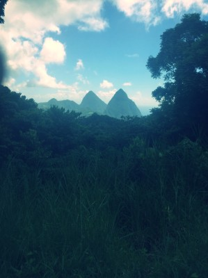 Pitons are the landmark of St. Lucia