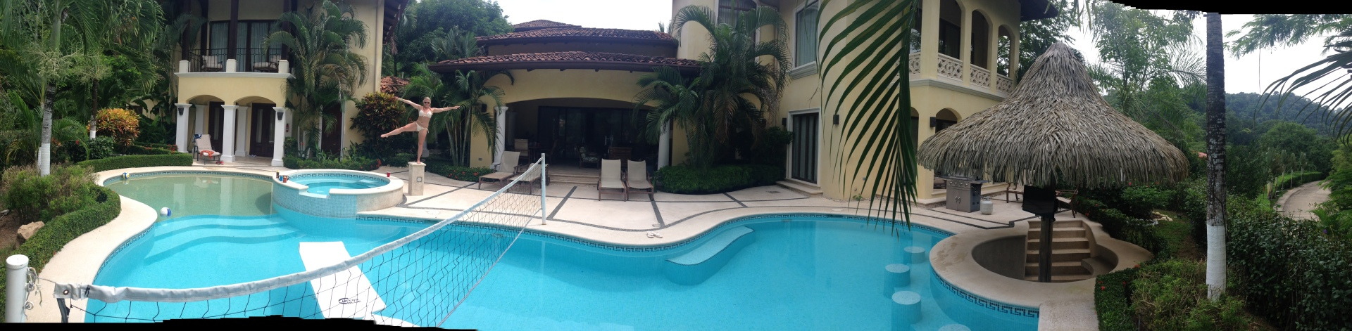 Our house with our very own swim up bar.