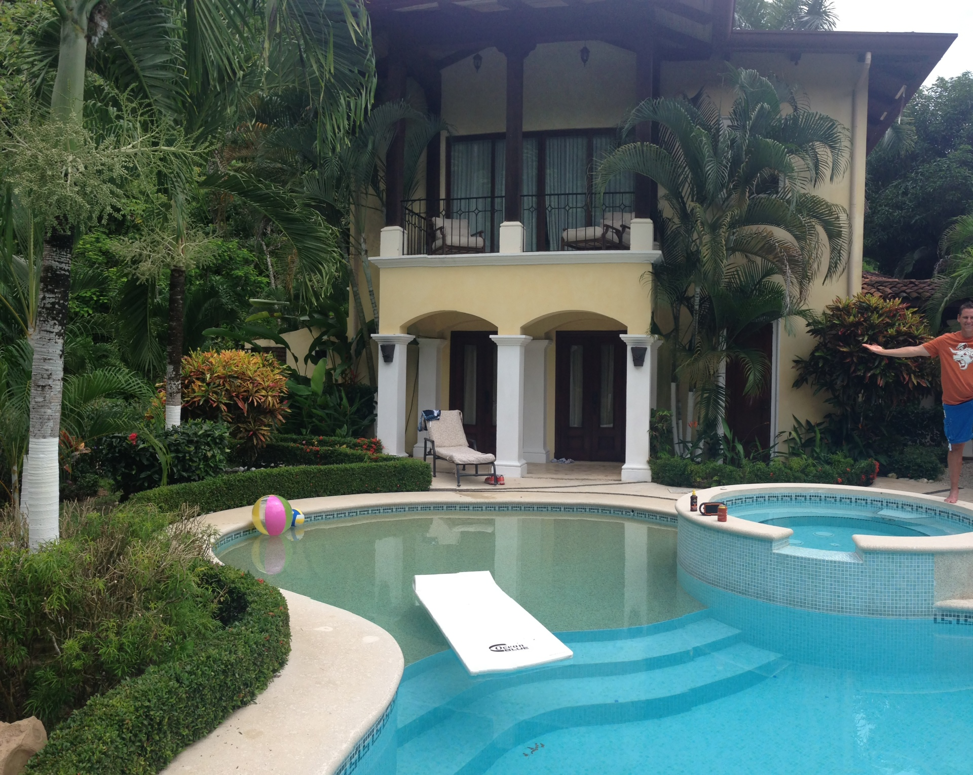 Our wing of the house had a private patio entrance to the pool.