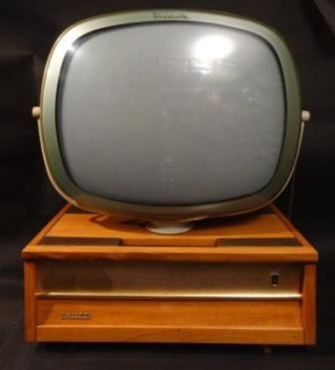 Philco Predicta television blonde Brazilian model ca. 1958  An extreme rarity.