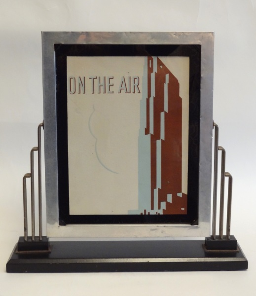 Rare and wonderful RCA Building skyscraper display by John Vassos for the RCA Co.
