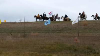 Snohomish Tribes Flag @ Standing Rock