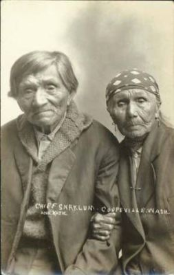 Chief Snatelum and his wife Katie