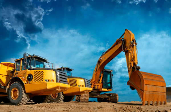 Excavator, Rock Truck, Packer