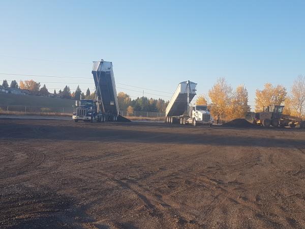 Site Development Recylced Asphalt Spreading