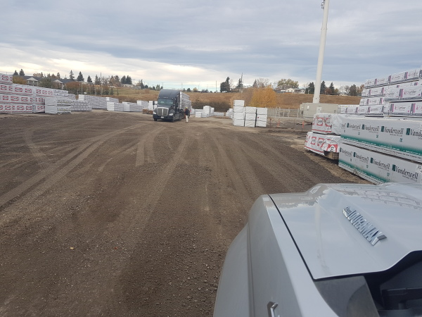 Exposed aggregate drive way for heavy truck.