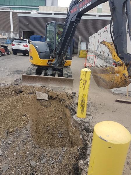 Underground Valve Excavation