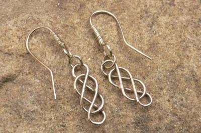 Classic Celtic Earrings in Gold