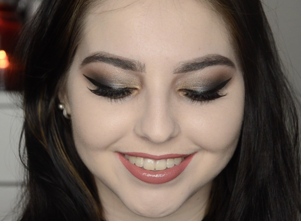 """""""DUSTY MAKEUP"""" TUTORIAL   BLUE & GOLD GLAM"""