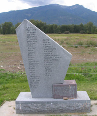 Stone marker placed by the Salish to honor their ancestors