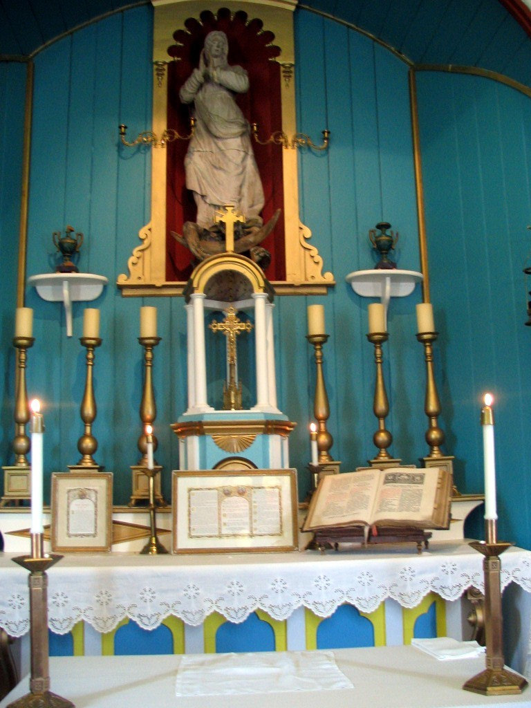 Chapel altar in St. Mary's