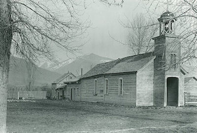 St. Mary's Chapel and attached buildings in 1879