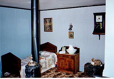 Handmade bed by Fr. Ravalli