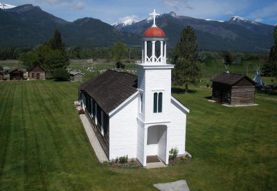 Aerial view of the Historic Mission Complex