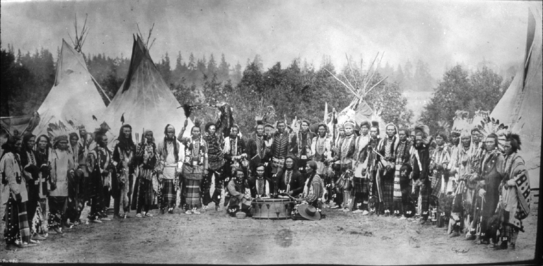 Salish drummers and dancers - 1903