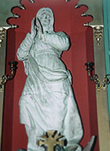 Carving of the Virgin Mary by Fr. Ravalli