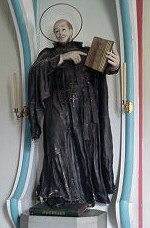 Effigy of St. Ignatius by Fr. Ravalli