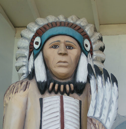 Carving of Salish Chief Tjolzhitsay