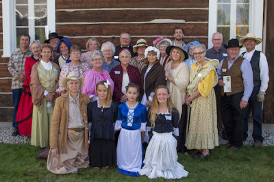 Volunteers performing the ladies tea at the 175th Commemoration of Historic St. Mary's Mission