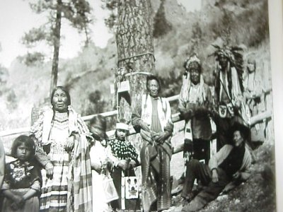 The Medicine Tree and a group of Salish tribal members