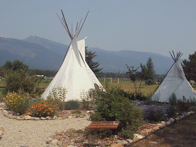 Encampment and native plantings