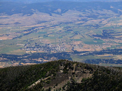 A view of the Bitterroot Valley from St. Mary's Peak