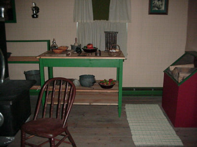 Kitchen area used by the Missionaries
