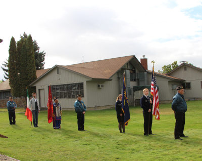 Presenting the colors at Founders Day
