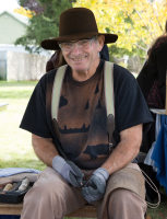 Man shown knapping flint