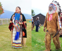 Salish tribal members Clair Charlo and Victor Charlo