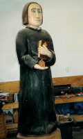 New carving of Fr. DeSmet